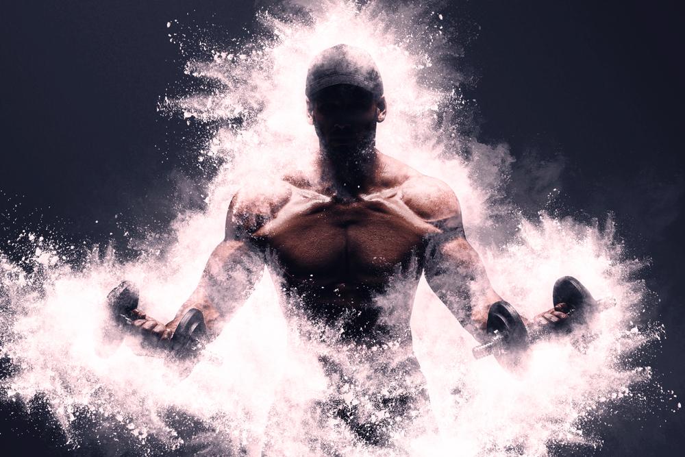 パワーが漲る筋肉男